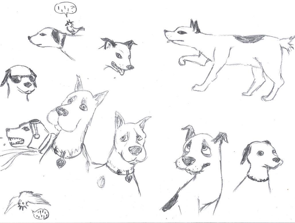 1028x778 Realistic Cartoon Dogs By Eltipejoloco