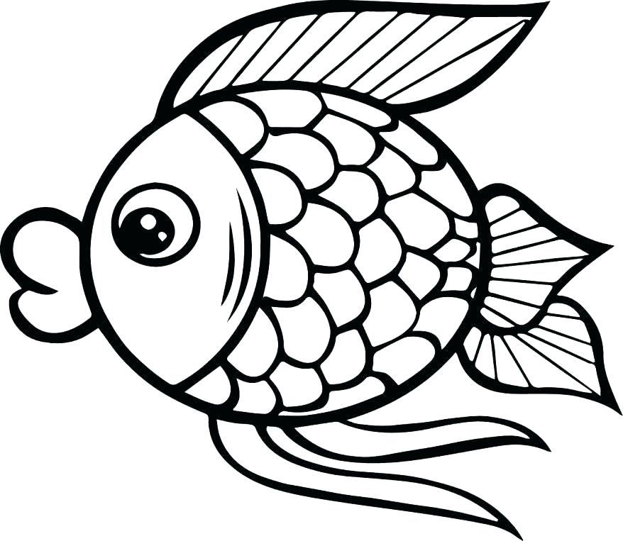 878x763 Fish Coloring Pages