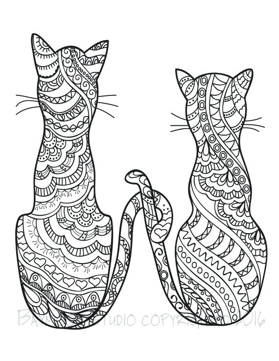 570x738 Realistic Cat Coloring Pages Cat Coloring Pages Kitty Cat Coloring