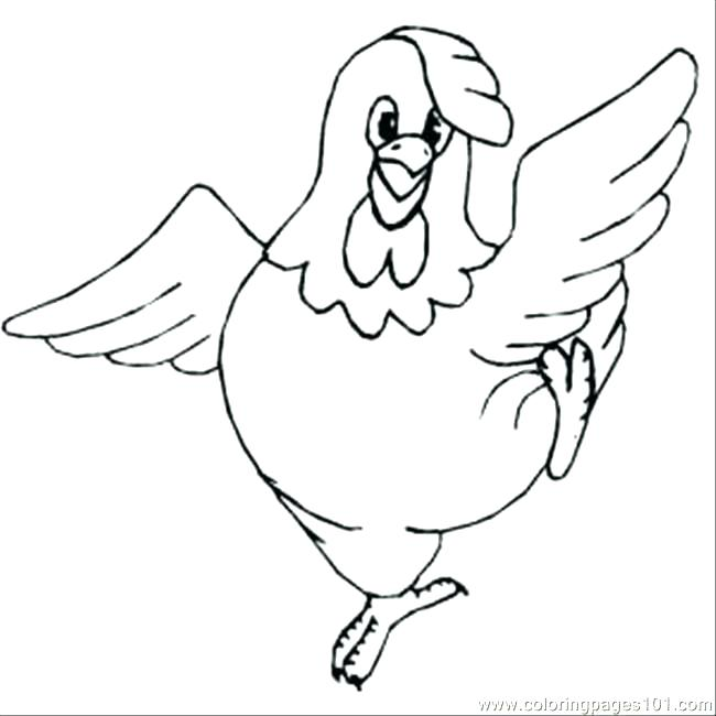 650x650 Chicken Coloring Page Chicken Pictures To Color Printable Chicken