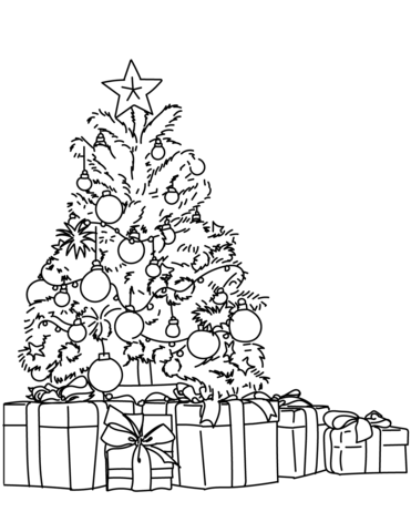 371x480 Christmas Tree Coloring Pages Free