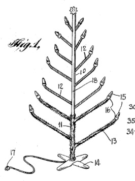 266x356 Christmases Past Artificial Christmas Tree Patents 1911