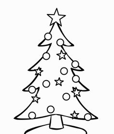 236x276 How To Draw A Christmas Tree With Presents (For Kids)