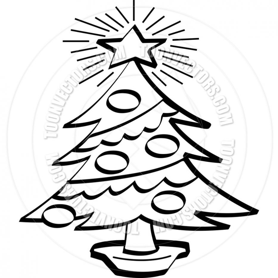 933x933 Christmas Tree Drawing Black And White Craft Ideas Decor Realistic