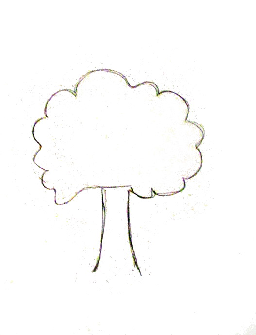 527x690 How To Draw A Tree