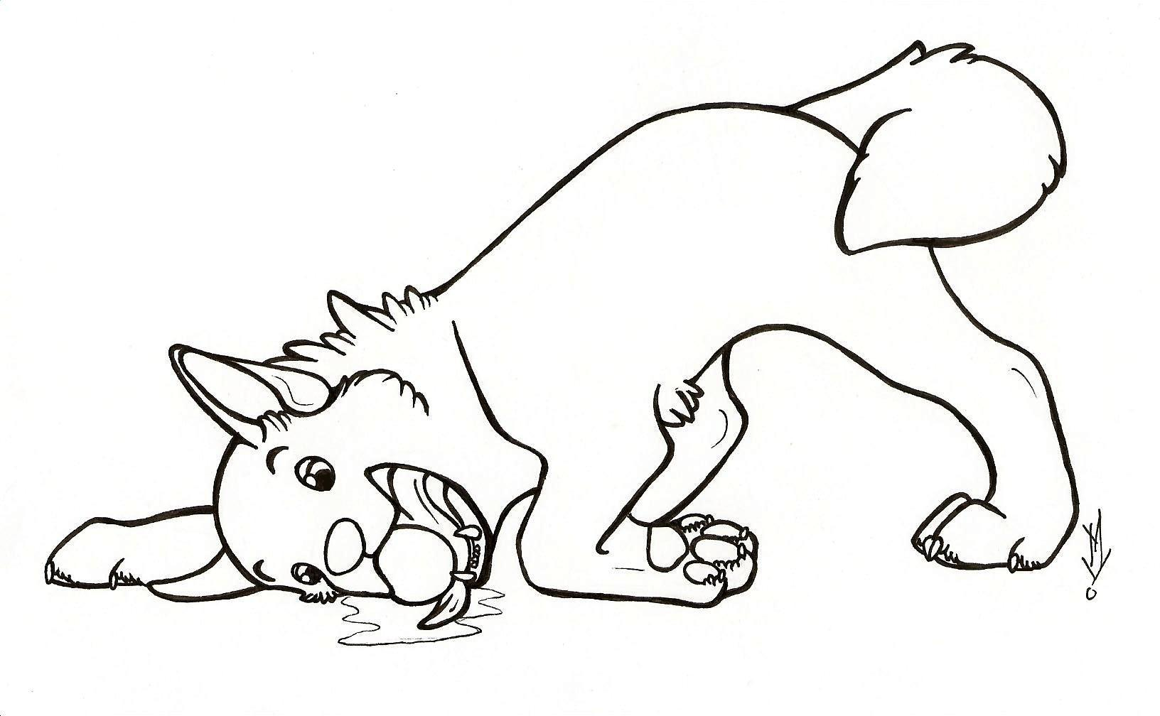 1632x1008 Realistic Dog Coloring Pages