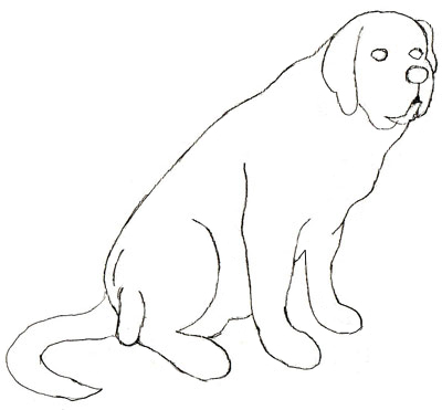 400x371 How To Draw A Dog