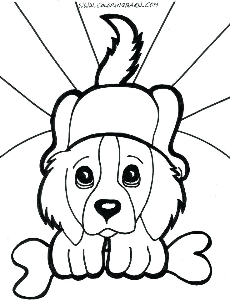 736x961 Beautiful Coloring Pages Dogs Free Download Dog Page Image Images