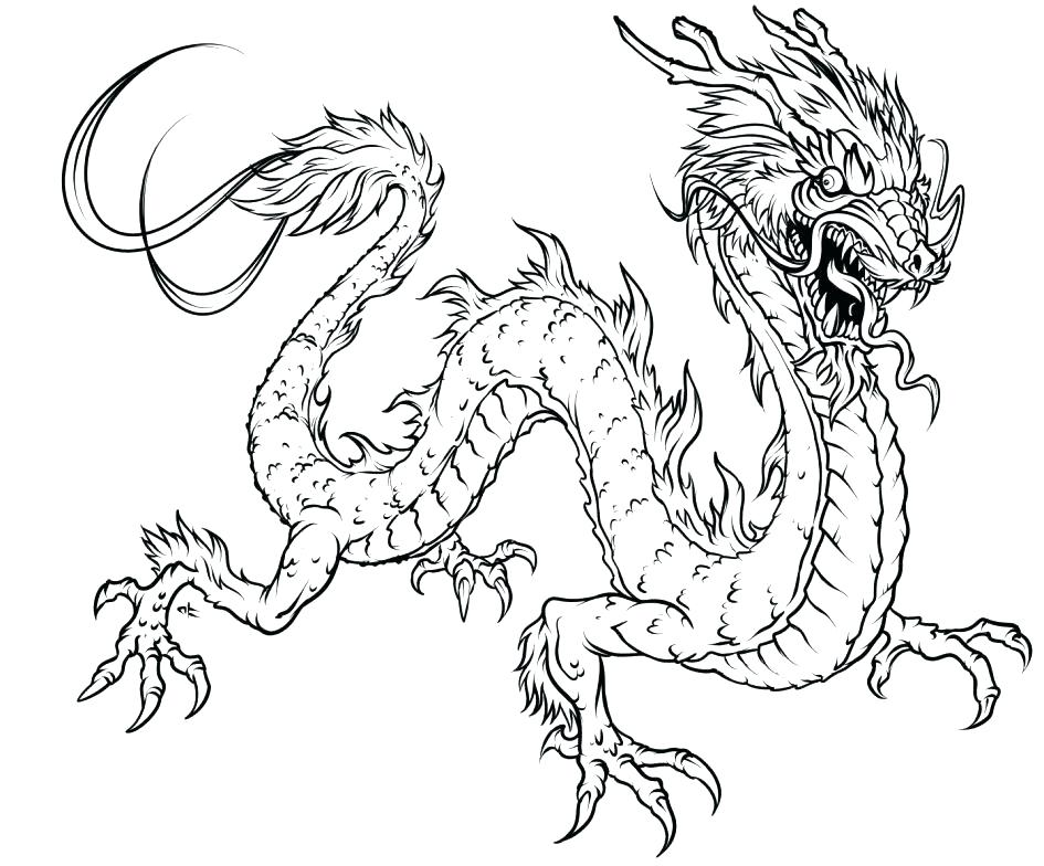 945x784 Dragon Head Coloring Page Photo Gallery Of The Realistic Dragon