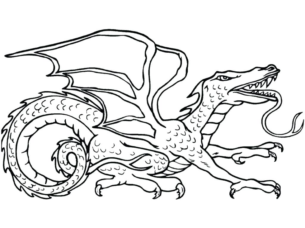 1024x766 Dragon To Color How To Draw A Traditional Dragon Step By Step
