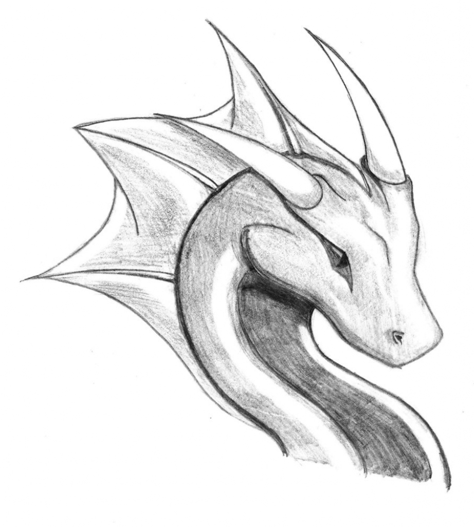 922x1024 Drawings Of A Dragon Realistic Dragon Drawings Free Premium