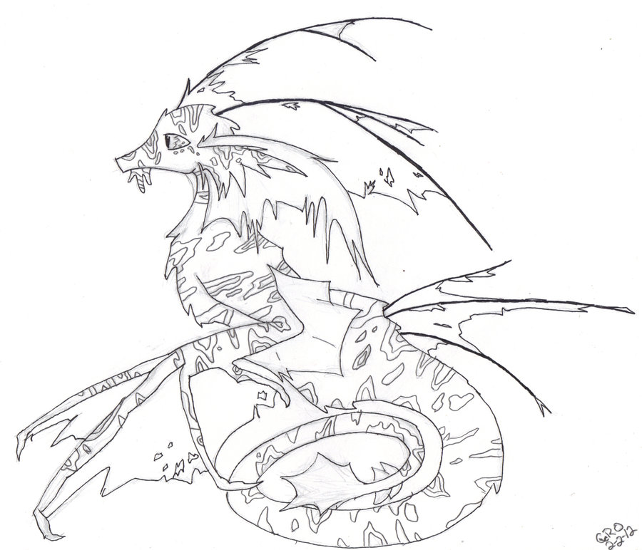 Realistic Dragon Drawing At Getdrawings Com Free For