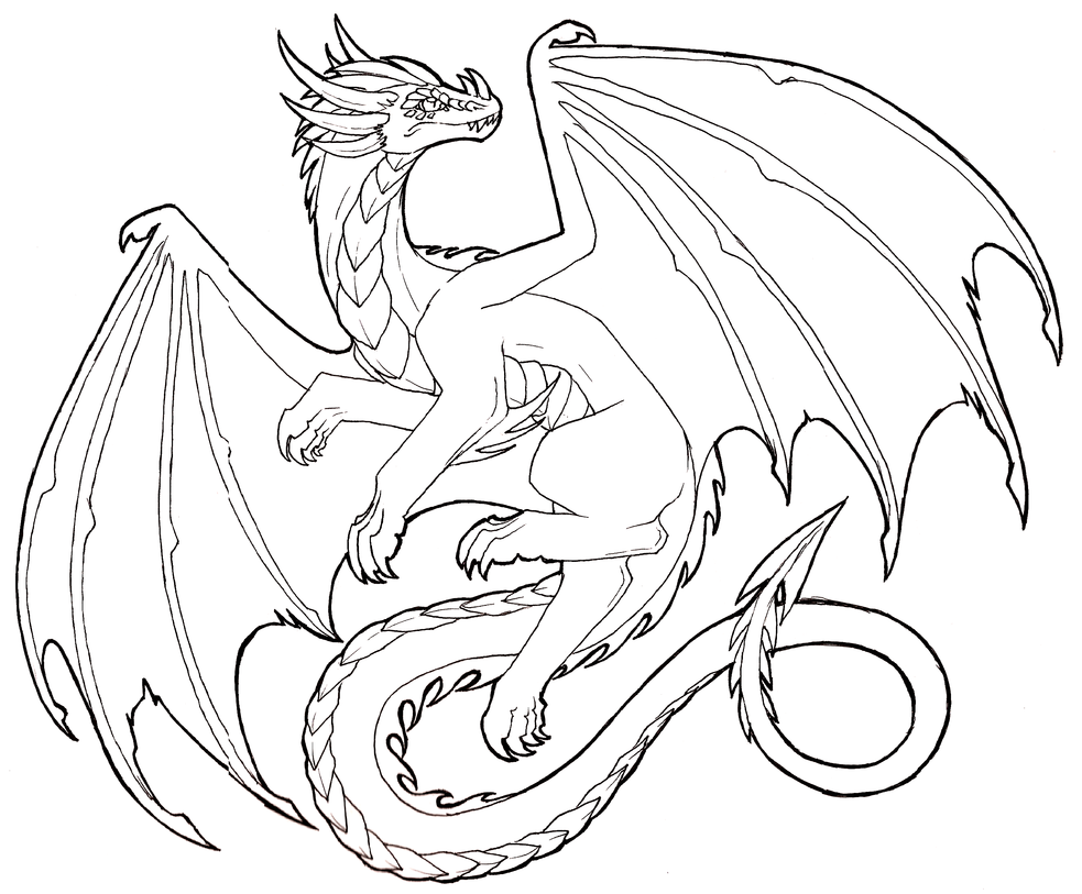 983x813 Flying Dragon Lineart Free To Use By Lucieniibi
