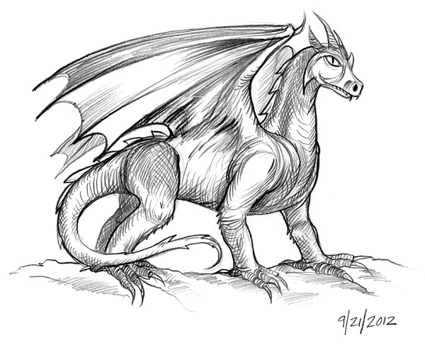 600x487 How To Draw Cool Dragon Drawings