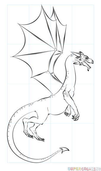 340x575 How To Draw A Realistic Dragon Step By Step Drawing Tutorials
