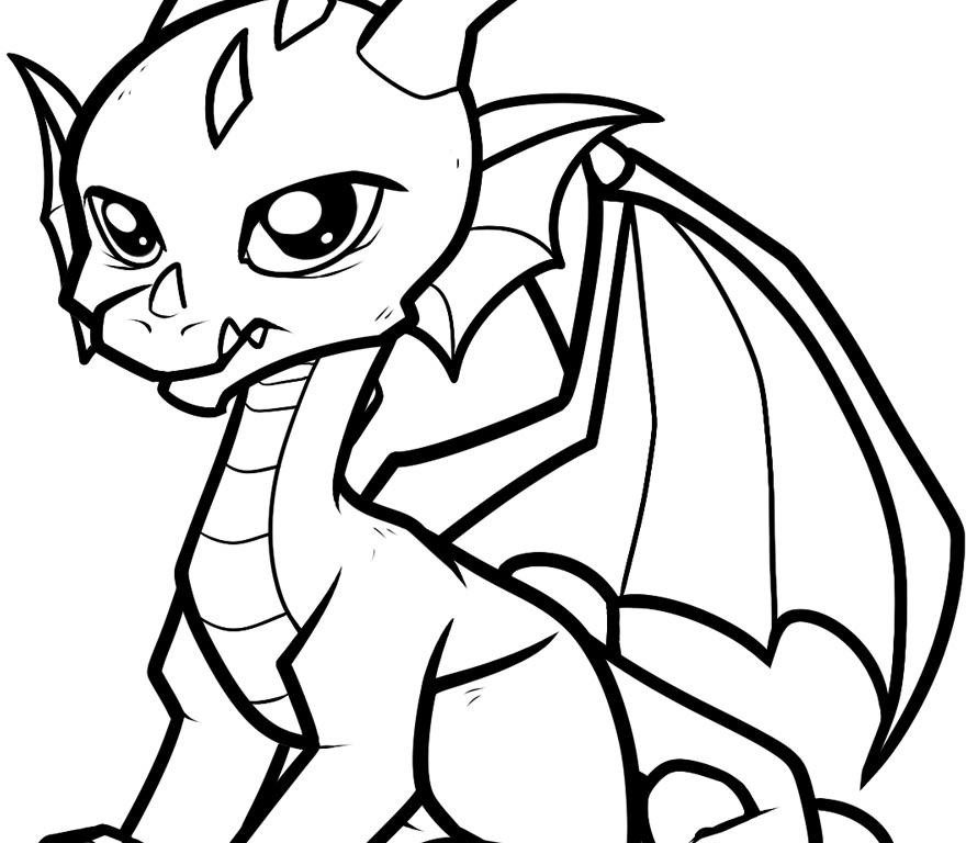 880x768 Awe Inspiring Free Coloring Pages Of Dragons To Print Realistic