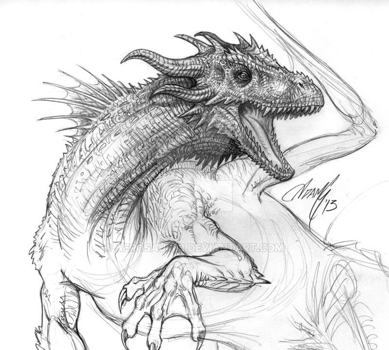800x719 Realistic Dragon Graphite By Aerosaur83