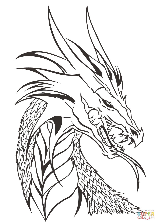 Realistic Dragon Drawing at GetDrawings | Free download