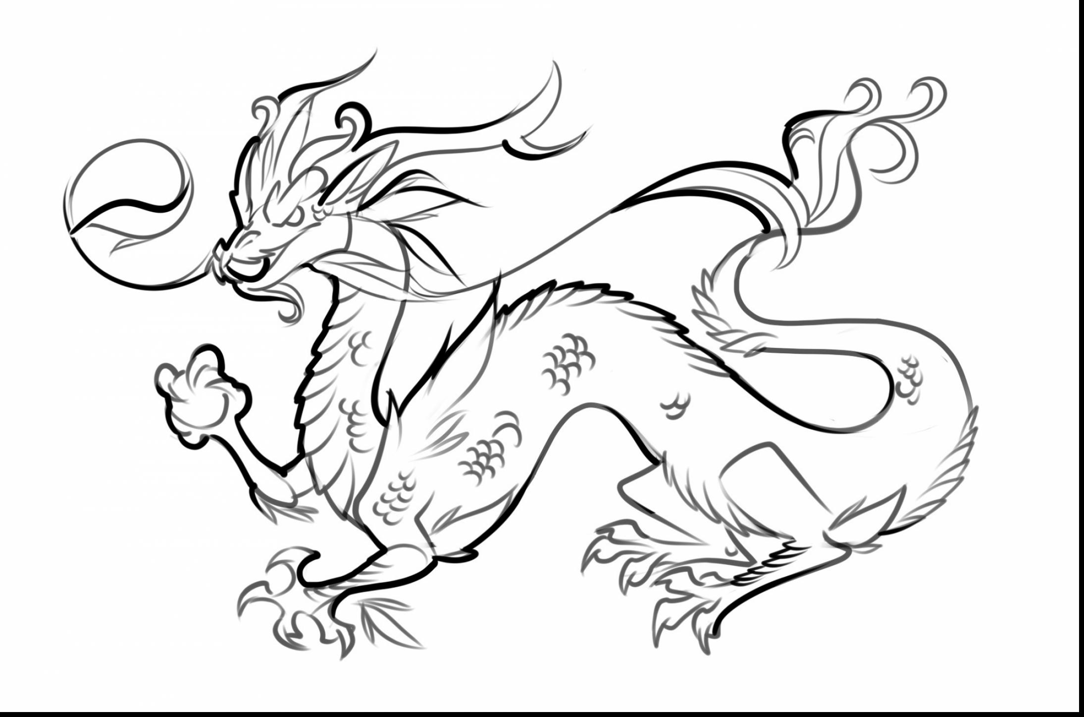 2189x1447 Excellent Realistic Dragon Coloring Pages With Coloring Pages