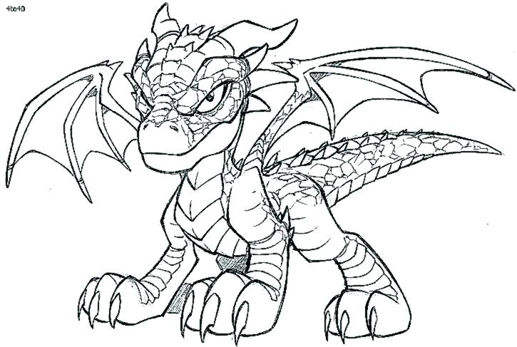 725x487 Dragon Coloring Pages Preschool To Snazzy Realistic Fire