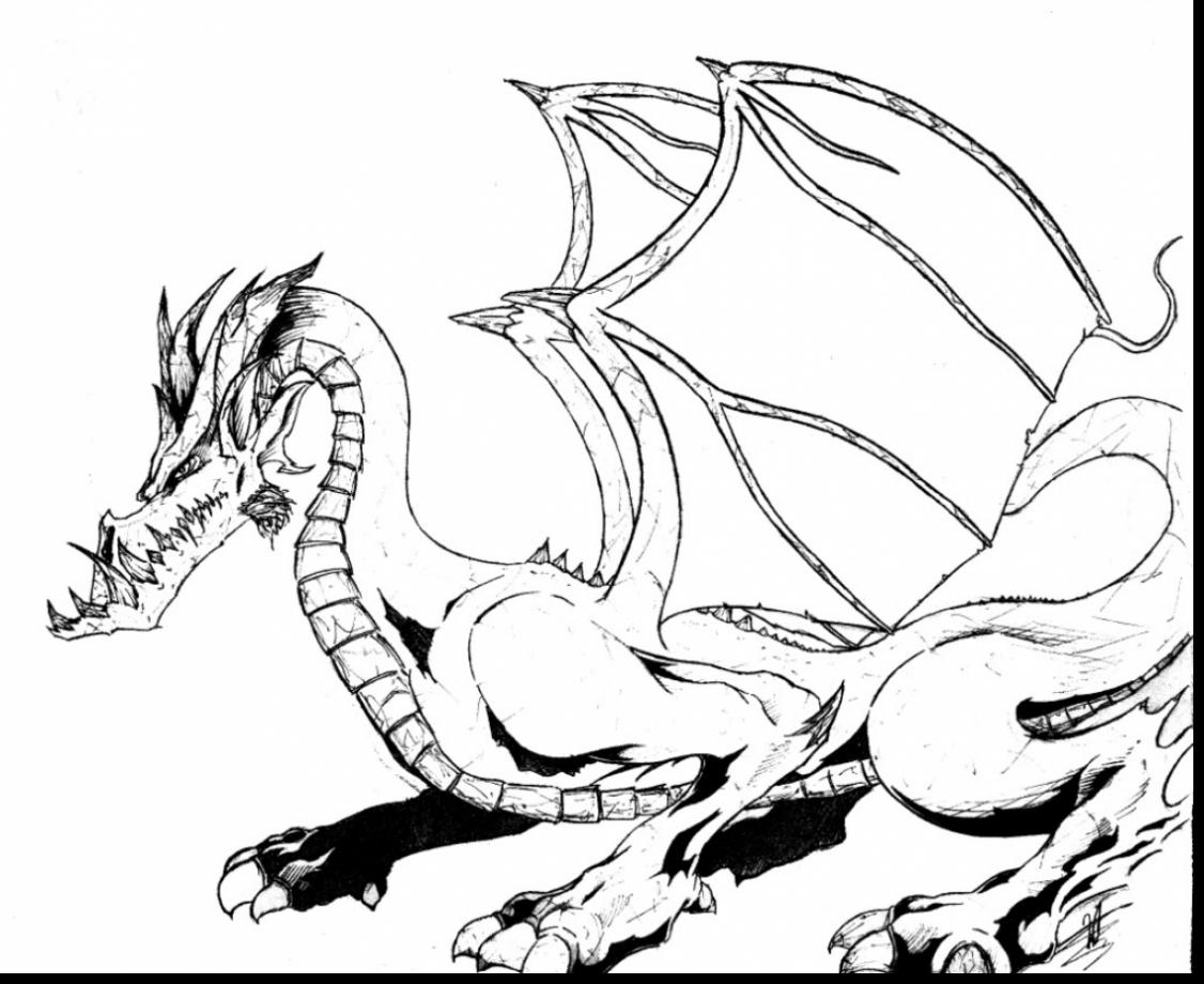 Realistic Dragons Drawing at GetDrawings.com | Free for personal use ...