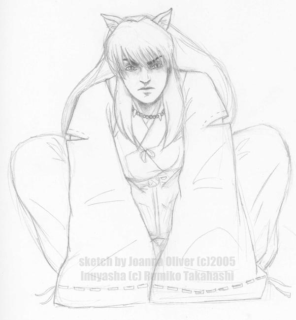 601x650 Inuyasha Realistic Sketch By Jojo Kun