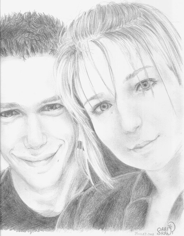 600x768 Realistic Couple By Ultra Violette