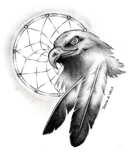 420x500 Eagle Dream' Tattoo Design By Denise A. Wells Dream Tattoos