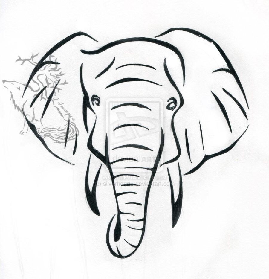900x933 Elephant Drawing Tattoo Tattoo, Tatting And Tatoo