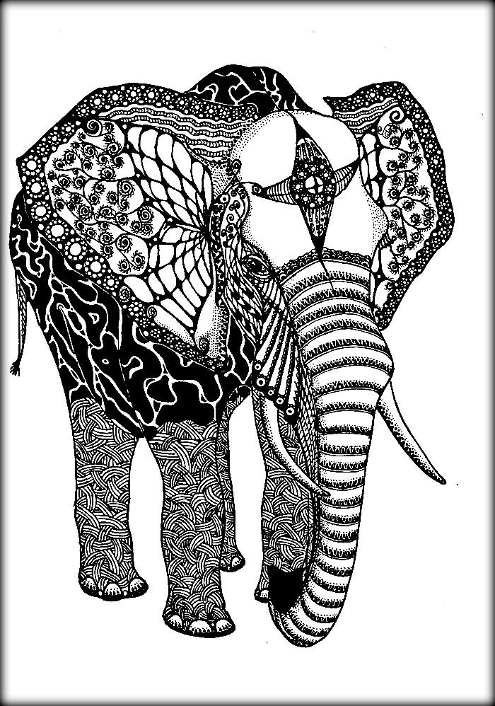 700x998 Realistic Elephant Coloring Pages For Toddlers