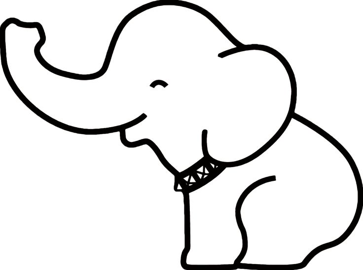photo about Elephant Outline Printable referred to as elephant define printable -