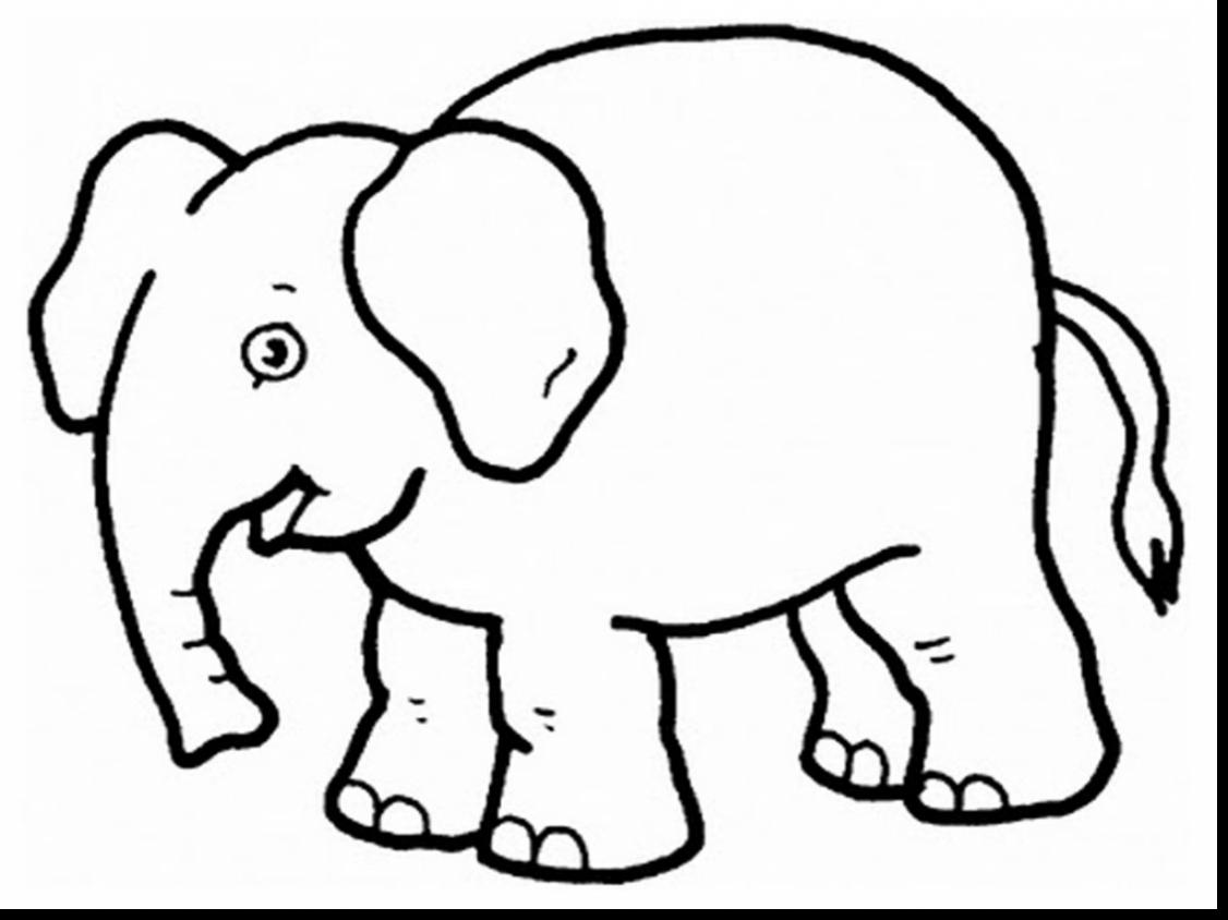 1126x844 Unbelievable Elephants Coloring Pages Realistic With Elephant
