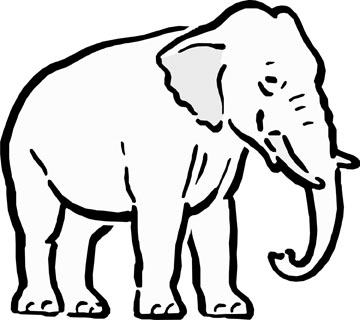 360x320 Asian Elephant Clipart Outline Drawing