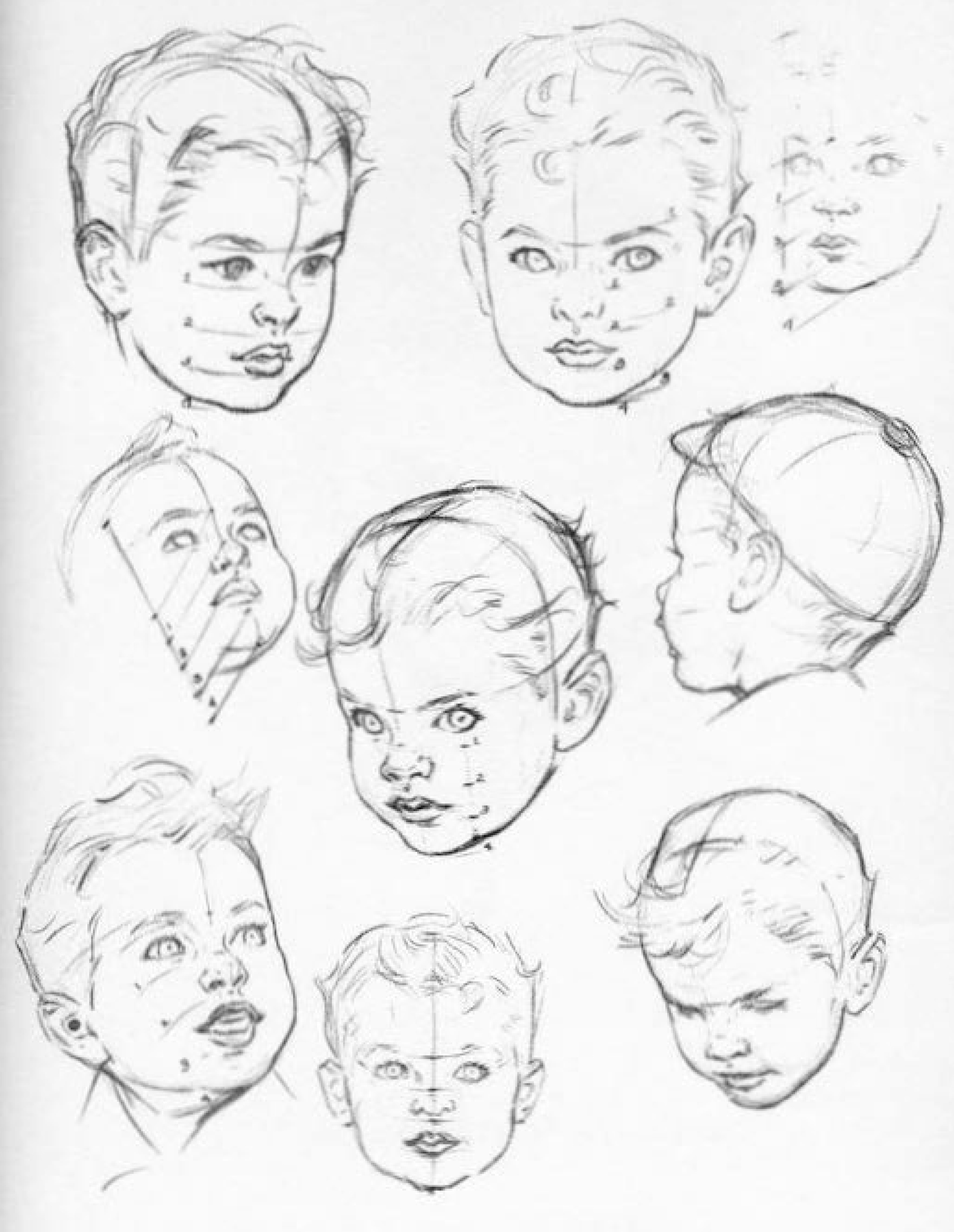 1800x2326 How To Draw Baby And Toddlers Heads In The Correct Proportions