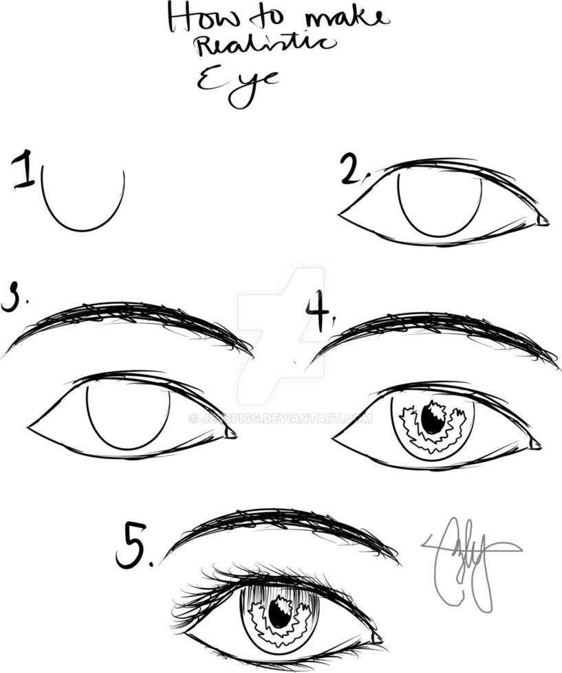 817x979 How To Make Realistic Eye By Jesspigg