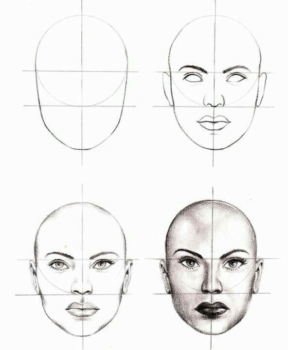 592x720 Pin By Donald E Asbury Iii On Drawing 101 Mime Face