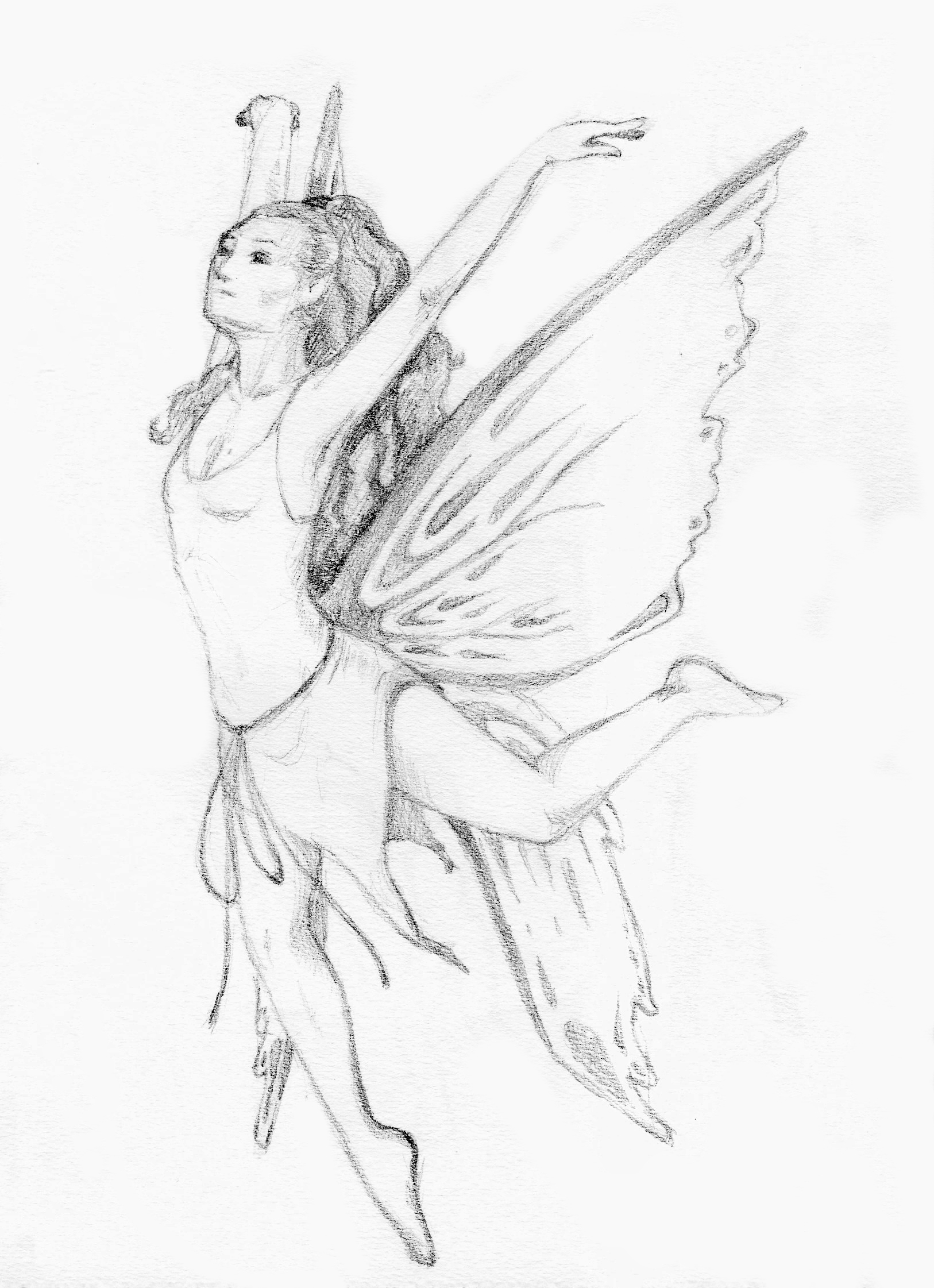 1626x2242 Fairies Flying Drawing Tutorials For Figure Drawings