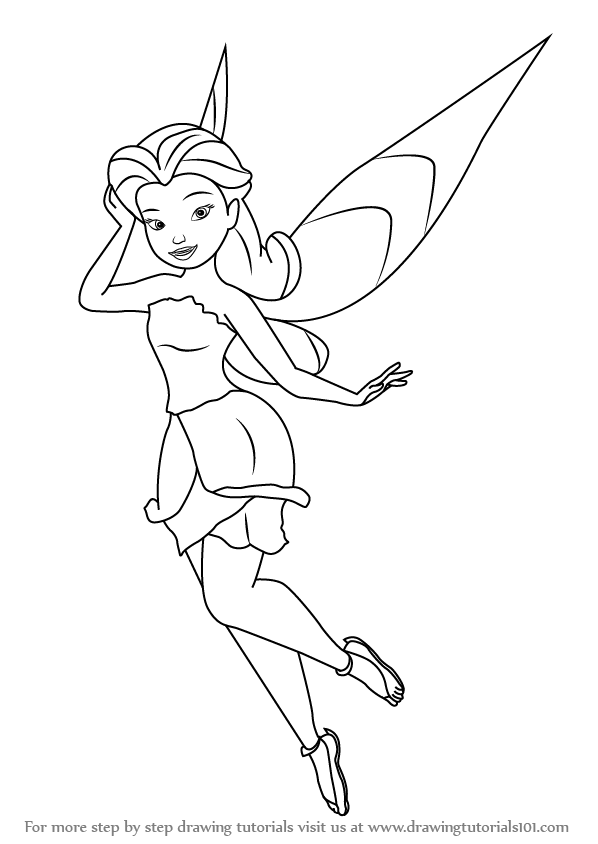 598x844 Learn How To Draw Rosetta Garden Fairy From Tinker Bell (Tinker