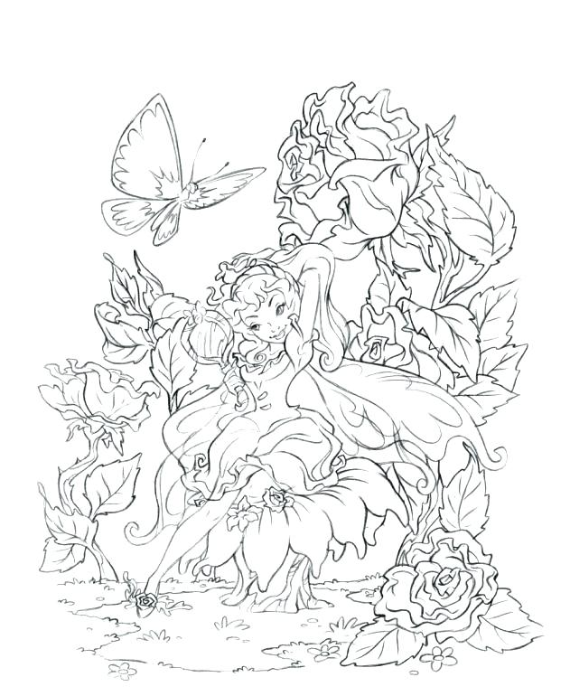 631x770 Lovely Fairies Coloring Pages Or 79 Realistic Fairy Coloring Pages