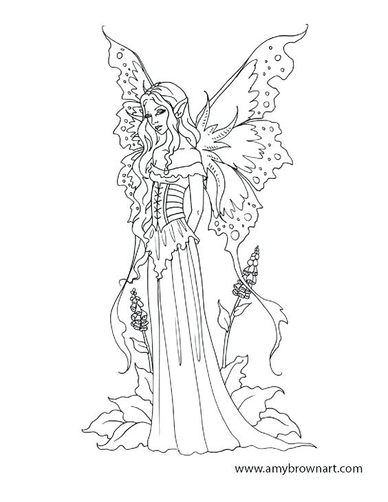 564x729 Amazing Fairies Coloring Pages For Adults Or Hard Fairy Coloring