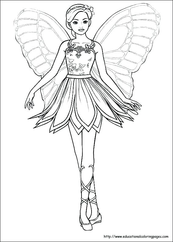 567x794 Fairy Coloring Pages For Adults