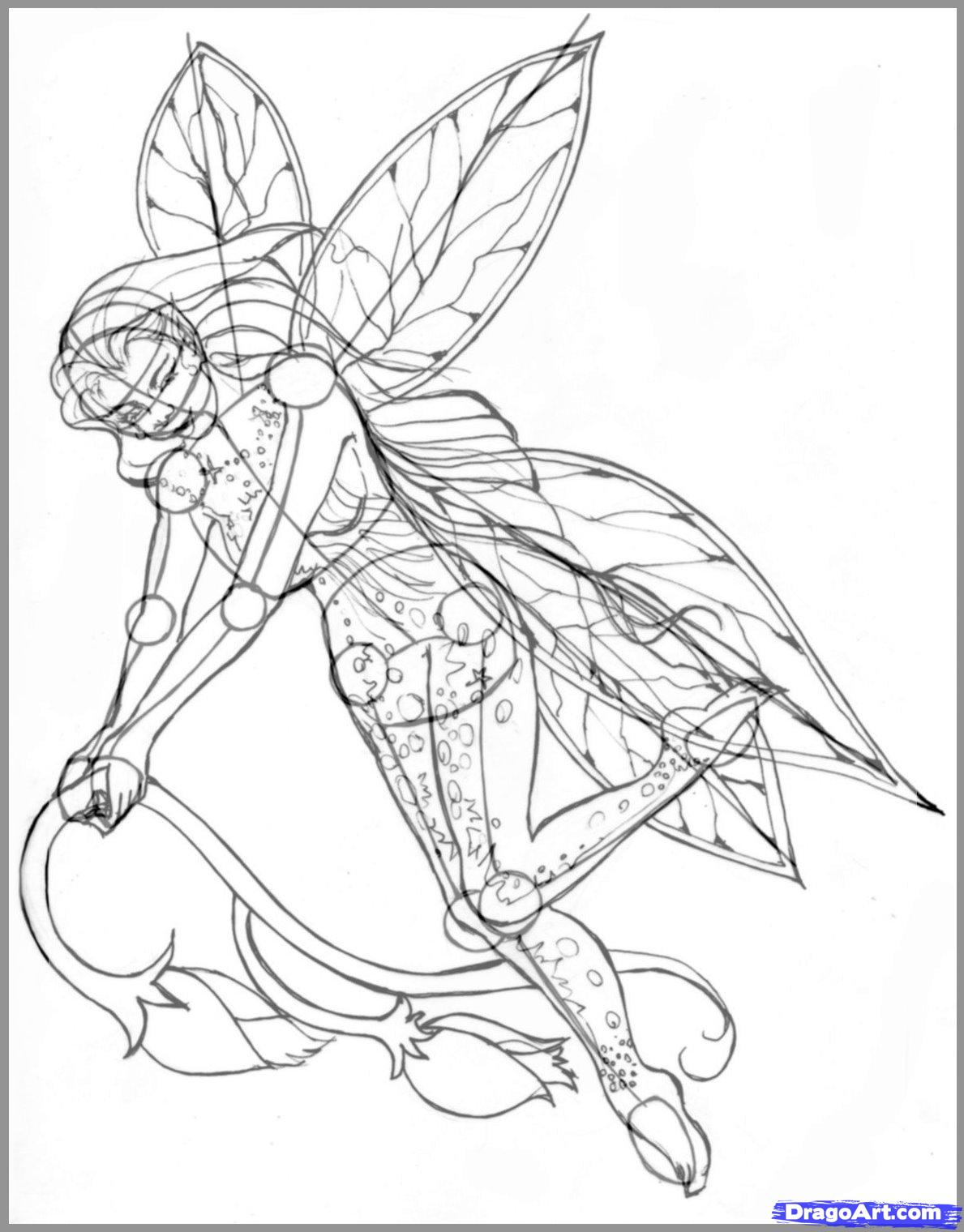 1189x1520 How To Draw Realistic Fairies, Draw A Realistic Fairy Step 7 All