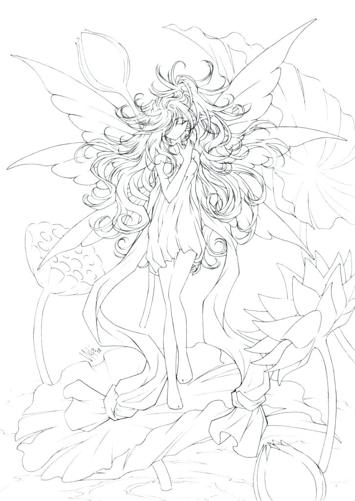 726x1024 Detailed Fairy Coloring Pages Detailed Fairy Coloring Pages Fairy