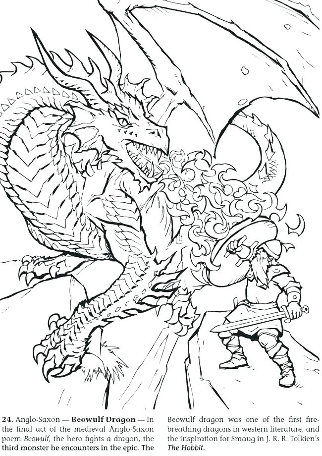 650x920 Elegant Dragon Coloring Pages Realistic And Fire Breathing Dragon