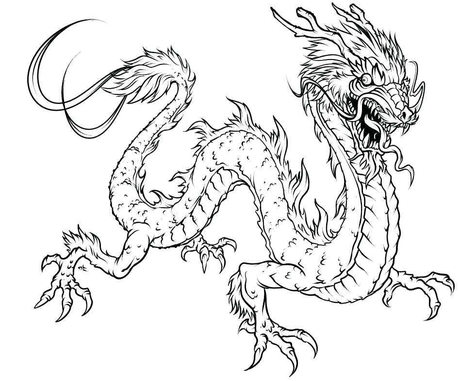 948x787 Lovely Fire Dragon Coloring Pages Or New Year Dragon Coloring
