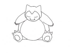 302x227 Pokemon Snorlax Drawing Drawings Of Pokemon Characters