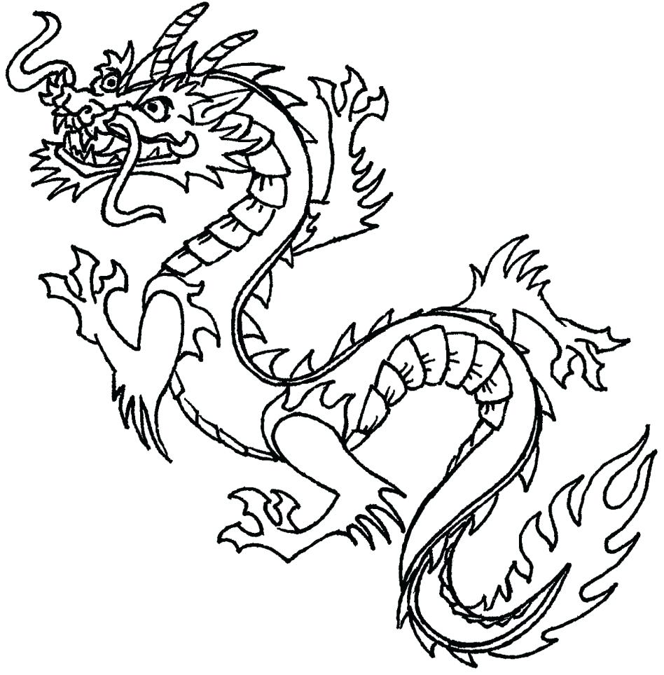 948x964 Coloring Real Dragon Coloring Pages How To Draw A Fire Red Step 9