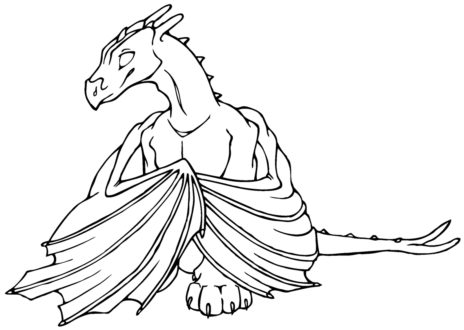 1600x1137 Coloring Pages Nice Coloring Pages Draw A Simple Dragon Fire
