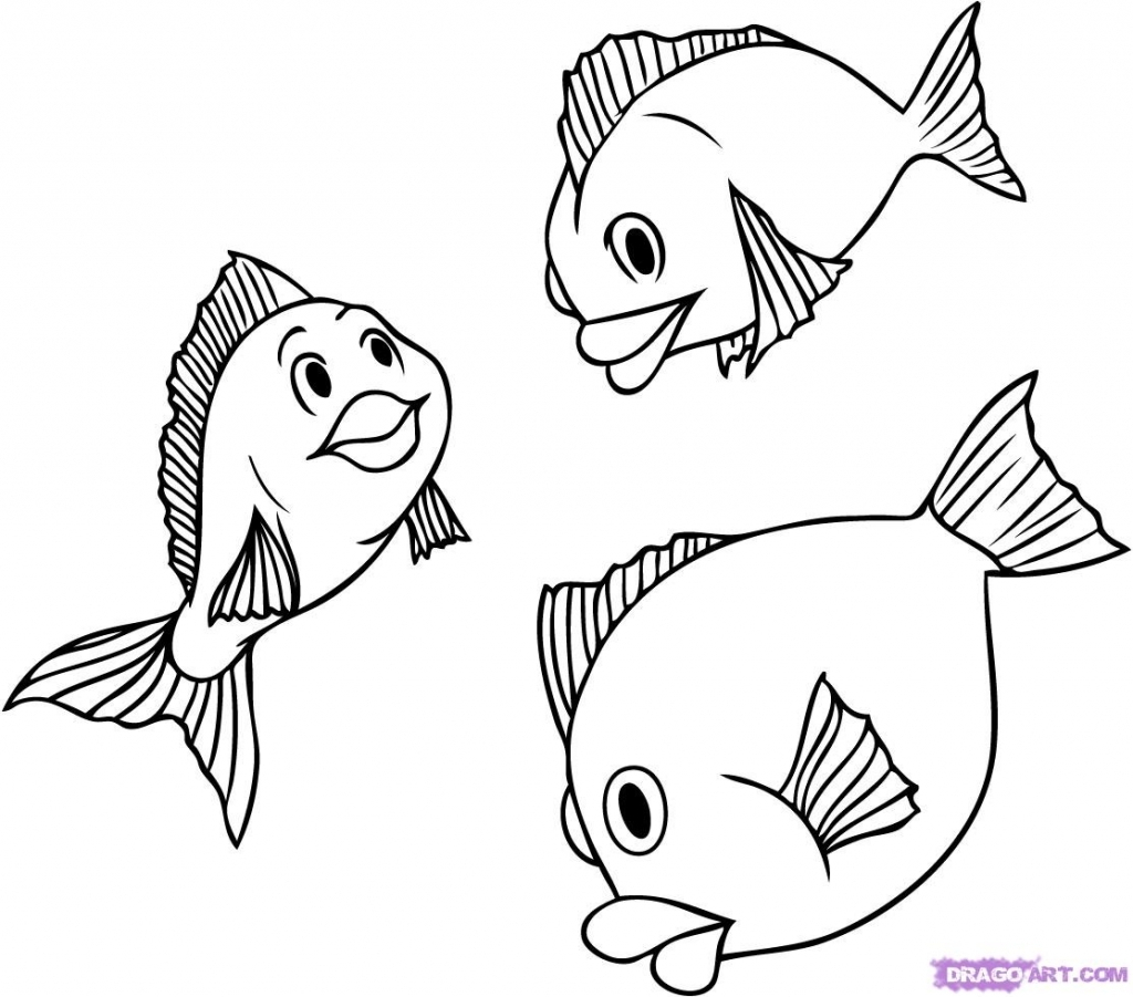 1024x901 How To Draw A Realistic Fish Step By Step