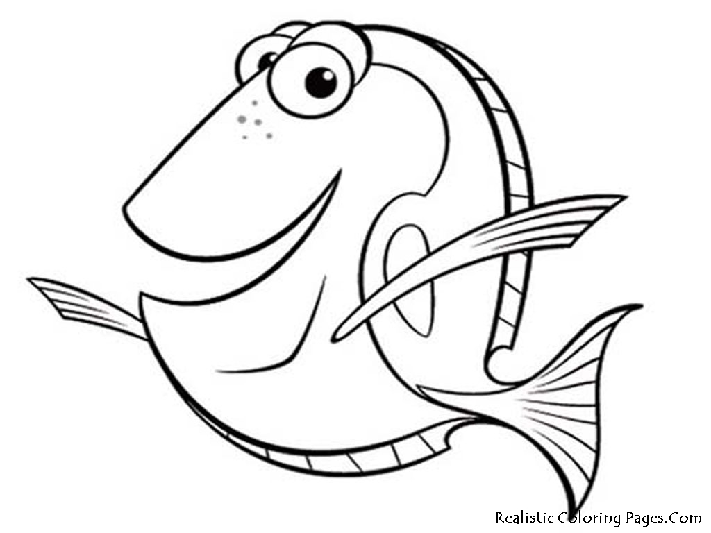1024x768 Cartoon Sea Fish Coloring Page Tropical Fish Coloring Pages